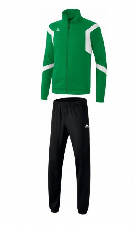 Dětská tréninková tepláková souprava Classic Team - Tmavě zelená/Bílá/Černá