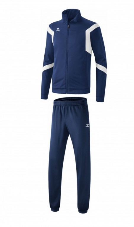 Dětská tréninková tepláková souprava Classic Team - Tmavě modrá/Bílá
