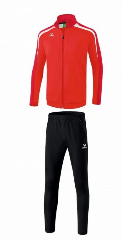 ERIMA dětská tréninková tepláková souprava LIGA 2.0 - Červená/Tmavě červená/Bílá