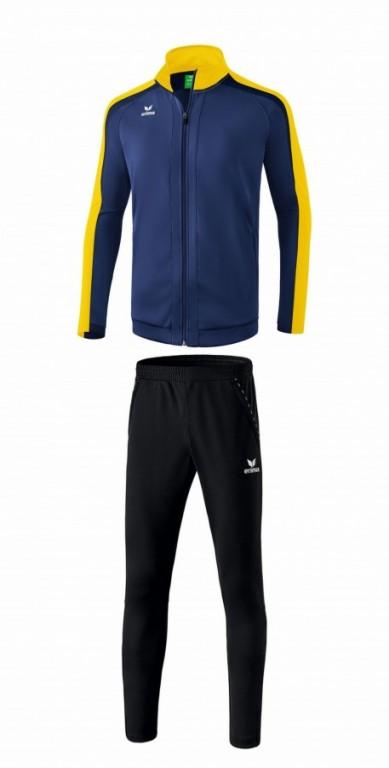ERIMA dětská tréninková tepláková souprava LIGA 2.0 - Tmavě modrá/Žlutá/Černomodrá